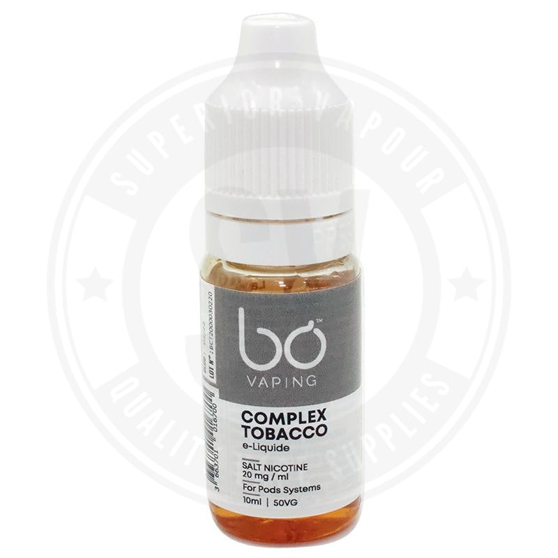 Complex Tobacco E-Liquid 10ml Salts by BO Vaping