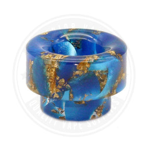810 Wide Bore Resin Drip Tips By Vapjoy Blue Tip