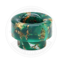 810 Wide Bore Resin Drip Tips By Vapjoy Green Tip