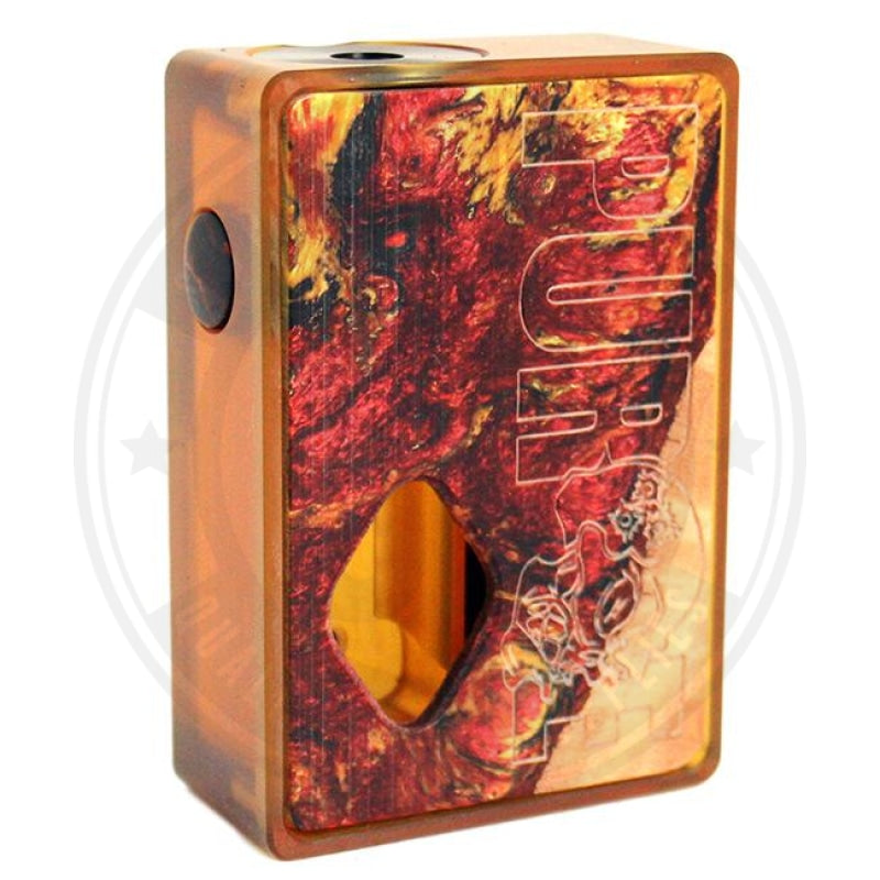 Ultem Stab Wood Resin Squonk Mod By Purge Mods Red