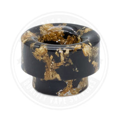 810 Wide Bore Resin Drip Tips By Vapjoy Black Tip