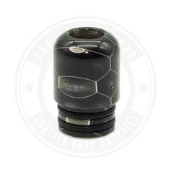 510 Mouth To Lung Resin Drip Tips By Vapjoy Black Tip