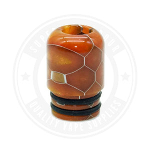 510 Mouth To Lung Resin Drip Tips By Vapjoy Orange Tip