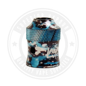 Modfather Caps By Avid Lyfe Blue/white Splatter Drip Tip