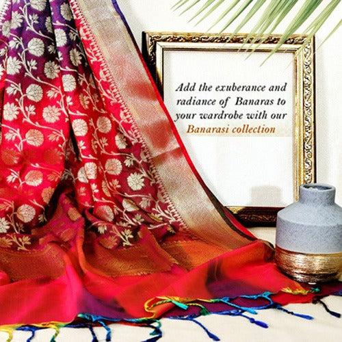 Adding Luxury to Your Attire---Banarasi Dupattas
