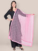 Onion Pink Embellished Net Dupatta