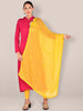 Yellow  Embroidered Chiffon Dupatta