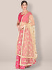 Embroidered Beige Net Dupatta.