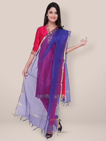 Royal Blue Blended Silk dupatta