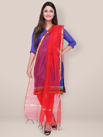 Red Blended Silk Dupatta