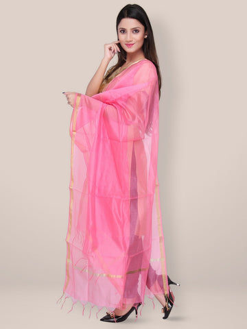 Pink Bleneded Silk Dupatta