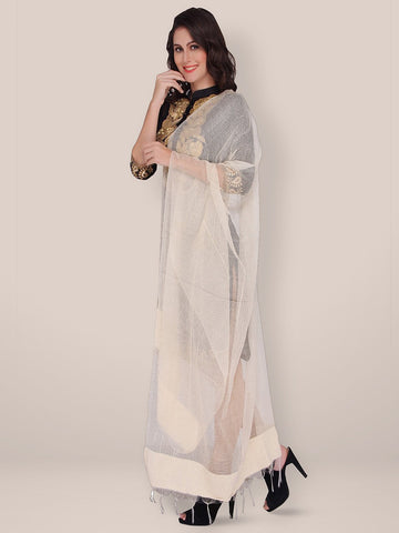 Organic Cotton Off White Dupatta