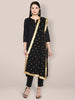 Embroidered Black Chiffon Dupatta