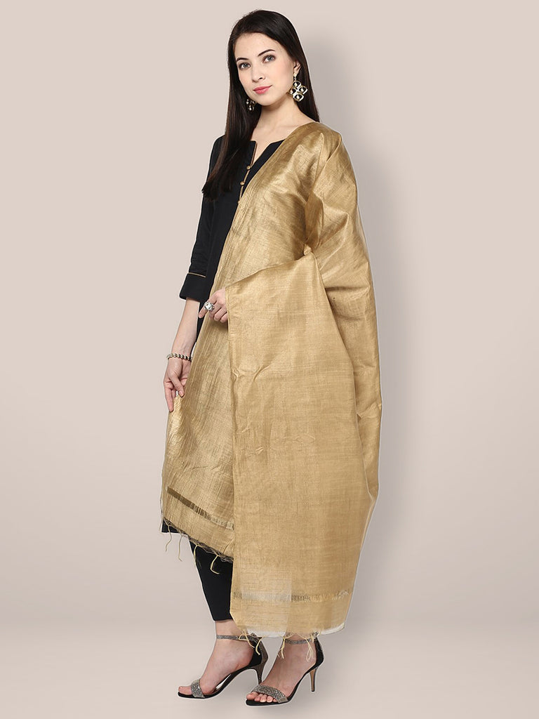 Gold Cotton Silk Dupatta