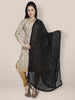 Black Chiffon Embroidered Dupatta