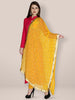 Mustard Chiffon Dupatta with Gold Embroidery