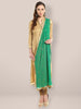 Green Embroidered  Chiffon Dupatta