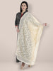 Off White Embroidered  Dupatta