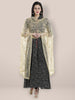 Gold  Embroidered  Net Dupatta