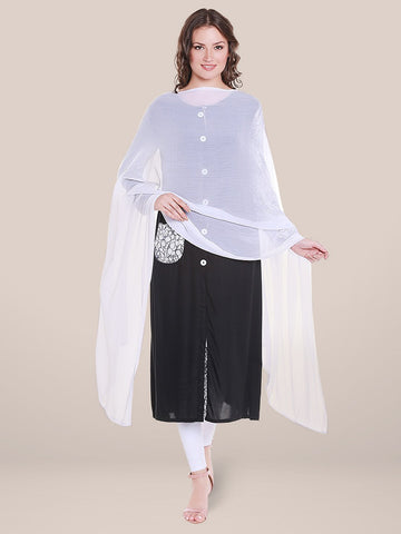 White Chiffon Dupatta with lace.