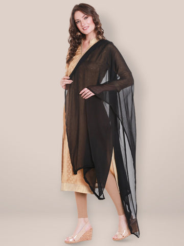 Black Chiffon Dupatta with lace