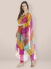 Multicoloured Checkered Embroidery Dupatta