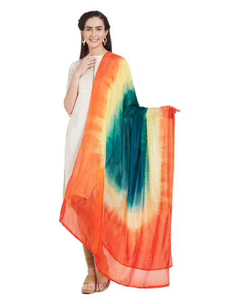 Dupatta Bazaar Woman's Multicoloured Art Silk Dupatta - Dupatta Bazaar