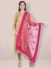 Pink Organza Gold Embridered Dupatta