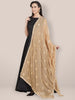 Gold Embroidered Chiffon Dupatta