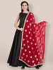 Red & Gold Chiffon Dupatta