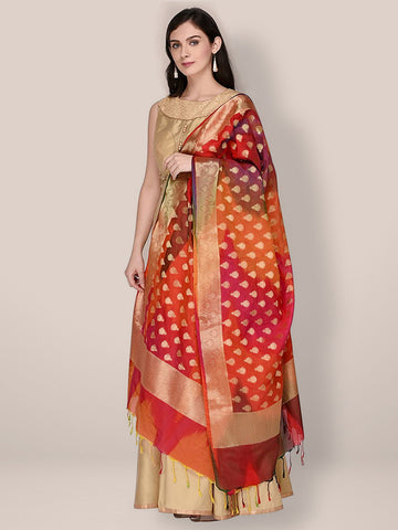 Banarasi Silk Multicoloured Dupatta
