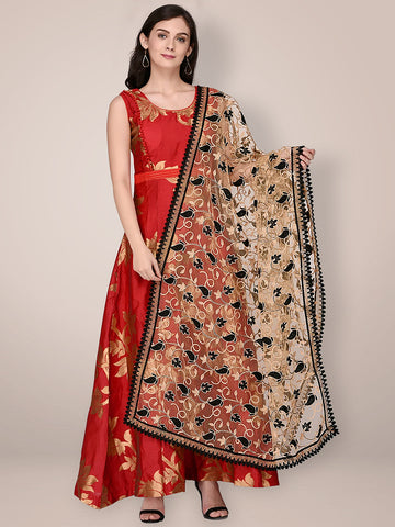 Net Dupatta with Embroidery.