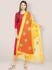 Yellow Organza Dupatta with Gold Embroidery.