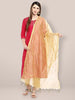Gold dupatta with Embroidery