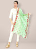 Green Embroidered Organza Dupatta