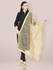 Embroidered Gold Net Dupatta