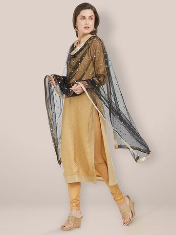 Embellished Black Net Dupatta