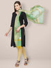 Sea Green Chanderi Dupatta with Gotta Work