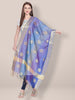 Shaded Blue Banarasi Silk Dupatta