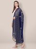Navy Blue Chiffon Dupatta with Gotta Patti work