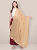 Beige Chiffon Dupatta with Gotta Patti work