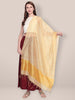 Blended Silk Yellow Dupatta.