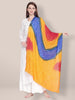 Yellow,Blue & Red Bandhini Dupatta
