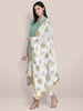 Embroidered White & Gold Georgette Dupatta