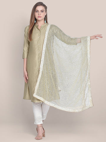 Off White Shimmer  Dupatta