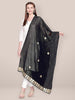 Embellished Chiffon Black & Gold Dupatta With Gotta Patti Work.
