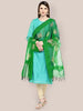 Organza Dupatta Bottle Green.