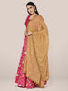 Beige Chiffon Dupatta with Gold Embroidery