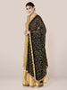 Black Chiffon Dupatta with Gold Embroidery