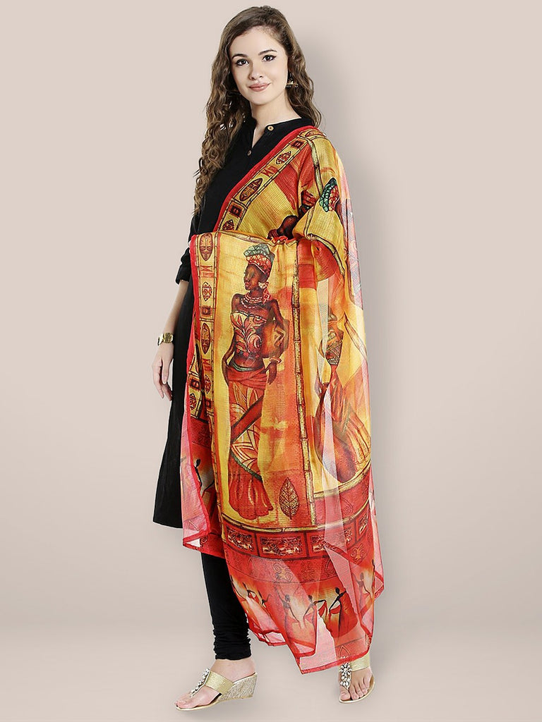 Multicoloured Digitally Printed Dupatta
